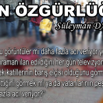 BASIN ÖZGÜRLÜĞÜ (!) – Süleyman DAĞISTANLI