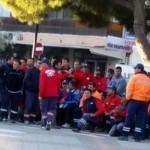 Gaziemir Belediyesi'nin işçileri iş bırakınca maaşları ödendi