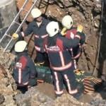 Ümraniye'de bir işçi göçük altında öldü