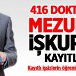 416 doktora mezunu İŞKUR'a kayıtlı