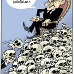 Karikatür – Yeni Türkiye kimin cenazeleri üzerinde yükseliyor?