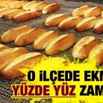 Aydın'ın Efeler ilçesinde ekmek yüzde yüz zamlandı