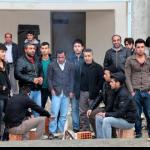 Karabük'te 7 aydır paralarını alamayan işçiler eylem yaptı