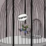 Karikatür – İç içe kafeslerde tutulan tutsakların durumu…