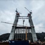 3. Köprü inşaatında çalışan işçiler iş bıraktı