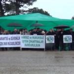 Giresun'da işten çıkarılan 7 işçi eylem yaptı