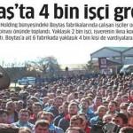 Boytaş'ta 4000 işçi grev yapıyor
