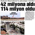 Bakan'ın 42 milyona aldığı arazi 114 milyon oldu