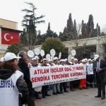 Bakırköy belediyesi taşeron işçileri eylem yaptı