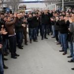VitrA seramik fabrikasında çalışan işçiler eylem yaptı
