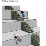 Karikatür – Parası olan eğitimi alır