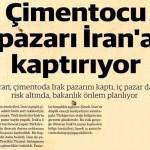 Irak çimento pazarını eline alan İran, Türkiye'de de çimento satışını artırdı