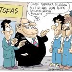 Karikatür – Dilsiz işçiler slogan attı diye işten atıldı