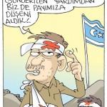 Karikatür – Türkiye'nin Suriye'deki teröristlere gönderdiği silahlarla Türkmenler de katledildi