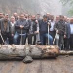 Artvinliler maden ocağına karşı direnişe devam ediyor
