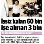 Dershanelerin kapatılmasıyla 57000 öğretmen işsiz kalacak