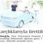 7 öğrenci harçlıklarıyla elektrikli otomobil üretti