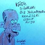 Karikatür – Türkiye, IŞİD'e silah vermiyor, IŞİD gelip kendi alıyor