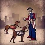 Karikatür – PKK ve IŞİD, Türkiye ve ABD'nin emrindedir
