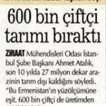 600000 çiftçi üretimden çekildi