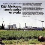 Kağıt fabrikasına termik santral kuruyorlar