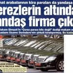 Devlet lüks araç kiralama işini Usame Derindere'ye peşkeş çekti