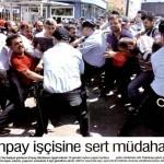 Kocaeli'de eylem yapan işçilere polis saldırdı