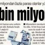 Bankada 1 milyon TL'den fazla parası olanların sayısı yüzde 22 arttı