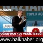 Video – Erdoğan: 400 milletvekilini verin ve bu iş HUZUR içinde çözülsün!