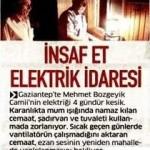 Gaziantep'teki Mehmet Bozgeyik camisinin elektrikleri günlerdir kesik…