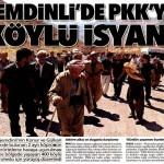 Şemdinli'de köylüler PKK'ya karşı yürüyüş yaptı