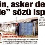 Şehit polis Olgun Kurbanoğlu'nun baba ocağı…
