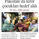 Pakistan'da terör çocukları hedef aldı, 72 ölü 300 yaralı