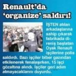 Renault işçilerine polis saldırdı