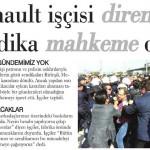 Sendika sattı, Renault işçisi direniyor