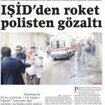 IŞİD, Kilis halkına roket atıyor, polis gözaltına alıyor