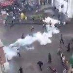 Video – Kilis'te kente düşen roketleri protesto eden halka polis saldırdı
