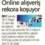 Online alışveriş rekora koşuyor