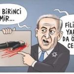 Karikatür – Filistinli yaralıyı da öldüreceksin!