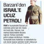 Siyonist Barzani, Türkiye üzerinde korsan İsrail'e petrol veriyor