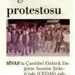 İşçilerden asgari ücret protestosu…