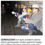 Zonguldak'ta maaşlarını alamayan madenciler direniyor