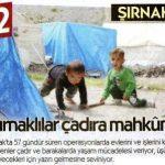 Şırnaklılar çadıra mahkum…