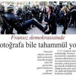 Fransa'da protestoları fotoğraflamak isteyen muhabire izin verilmedi