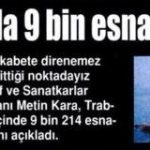 Trabzon'da son 5 yılda 9214 esnaf iflas etti