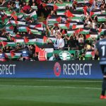 Celtic taraftarı İsrail takımıyla yapılan maçta Filistin bayrağı açtı