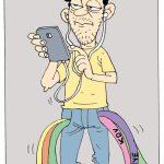 Karikatür – TRT'den sonra belediyeler de cep telefonlarından vergi alacak