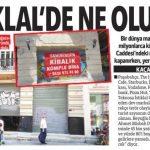 İstiklal caddesindeki mağazalar bir bir kapanıyor