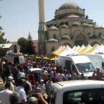 """Video – Gaziantep'te cenaze namazları kılındı, """"Katil Erdoğan"""" sloganları sürüyor"""