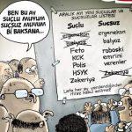 Karikatür – Ben bu ay suçlu muyum, suçsuz muyum bir baksana…